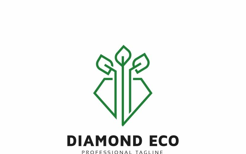 Шаблон логотипа Diamond Eco