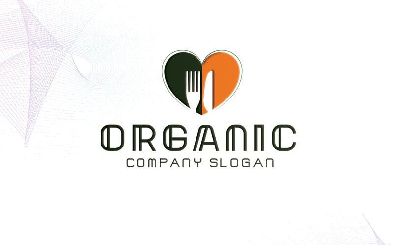 Шаблон логотипа органических продуктов питания