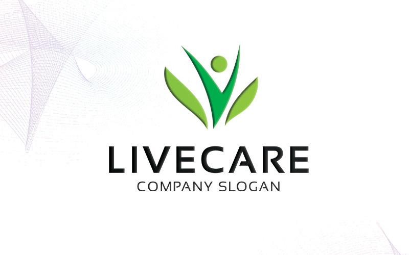 Sjabloon met logo voor Livecare