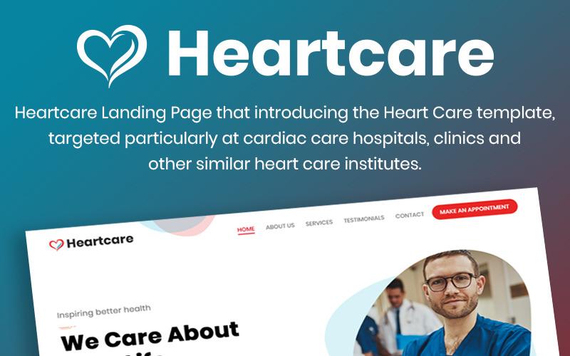 Heartcare Medical Solution PSD Şablonu
