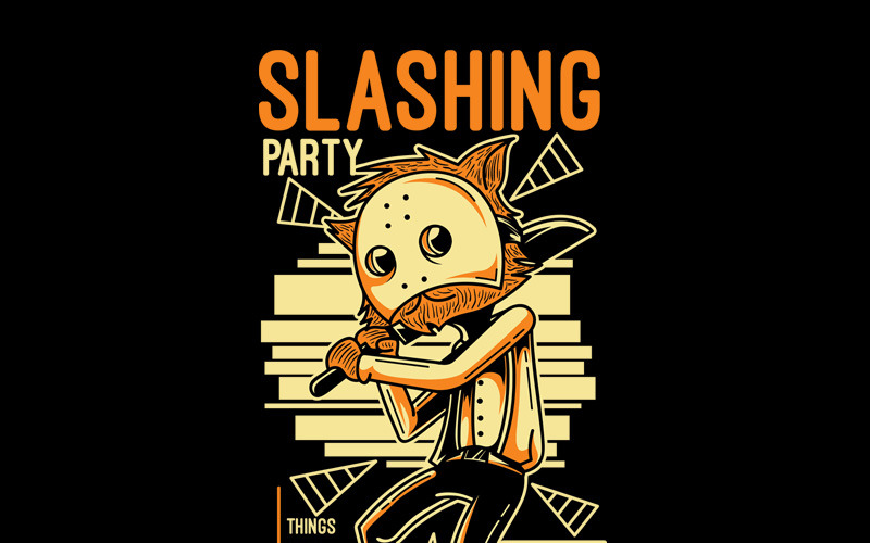 Slashing Party 4 - Дизайн футболки