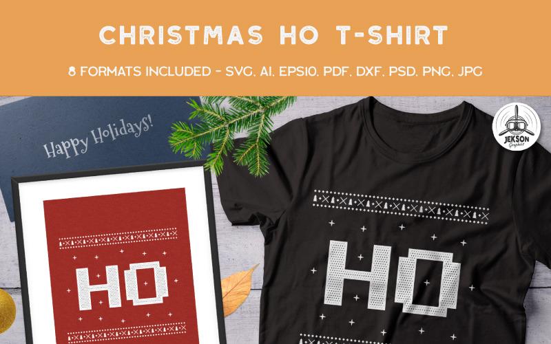 Christmas Ho - projekt koszulki