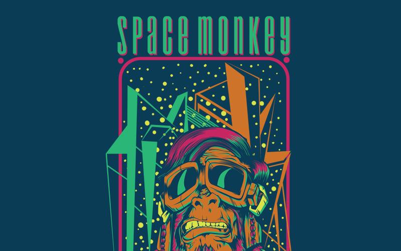 Space Monkey - projekt koszulki
