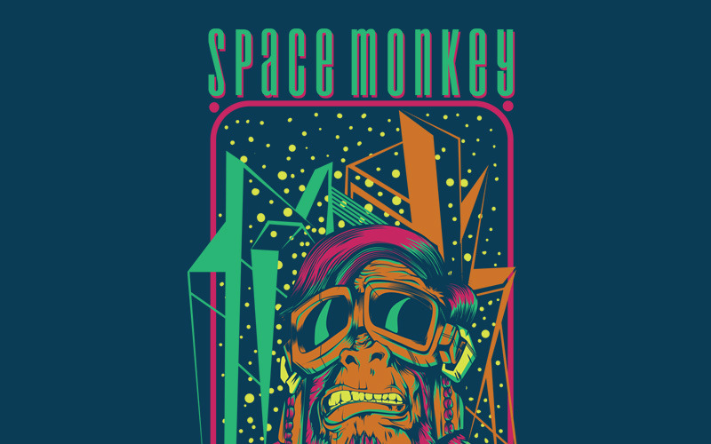 Space Monkey - T-shirt Design