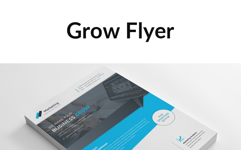 Листовка Grow - шаблон фирменного стиля