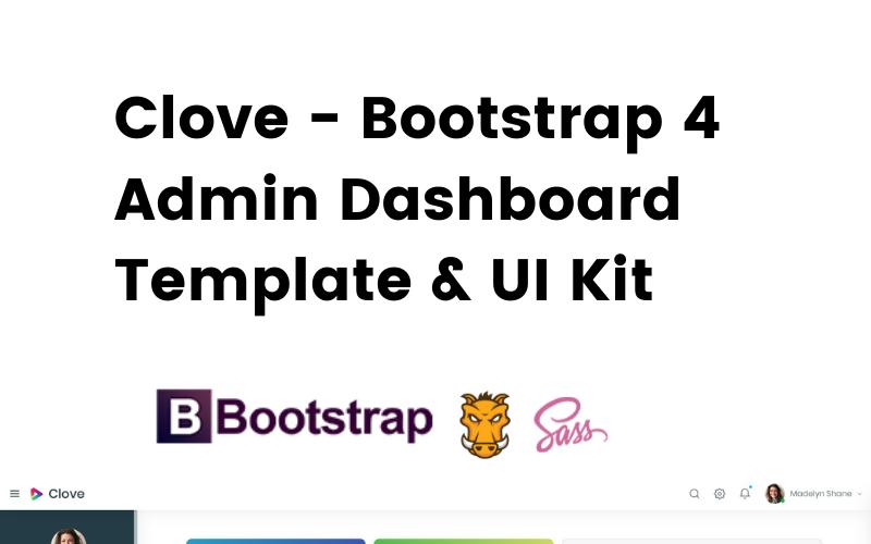 Szegfűszeg - Érzékeny Bootstrap 4 Admin Dashboard sablon Admin sablon