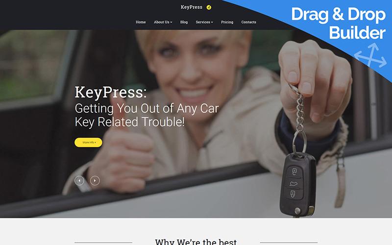 KeyPress - Araba Anahtarı Değiştirme Moto CMS 3 Şablonu