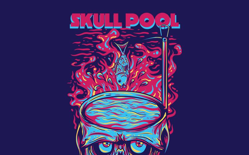 Skull Pool - T-shirt Design