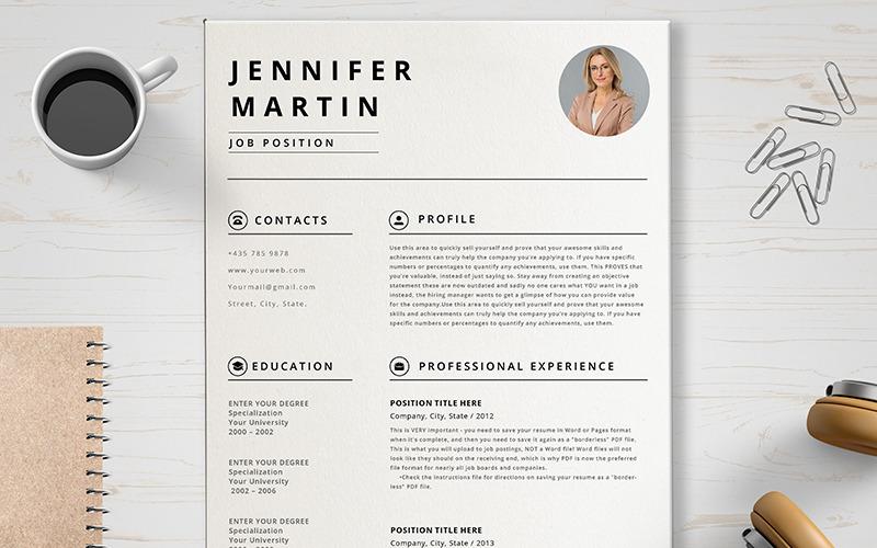 Jennifer Martin önéletrajz sablon