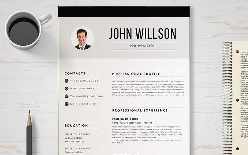 John CV-sjabloon