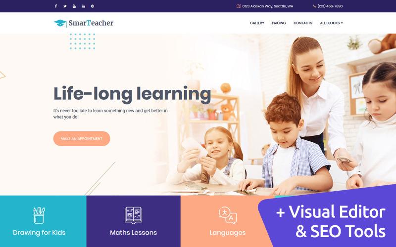 Modèle de page de destination de l'enseignant intelligent
