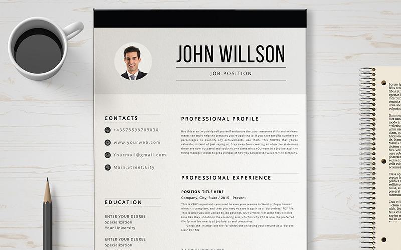 Plantilla de CV de John