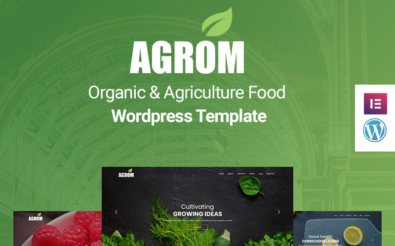 Agrom - Organic & Agriculture Food WordPress Theme