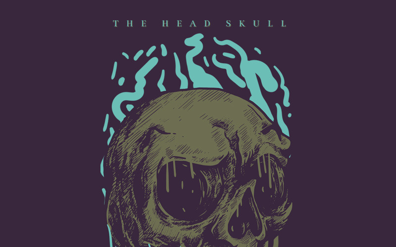 The Head Skull - T-shirt Design