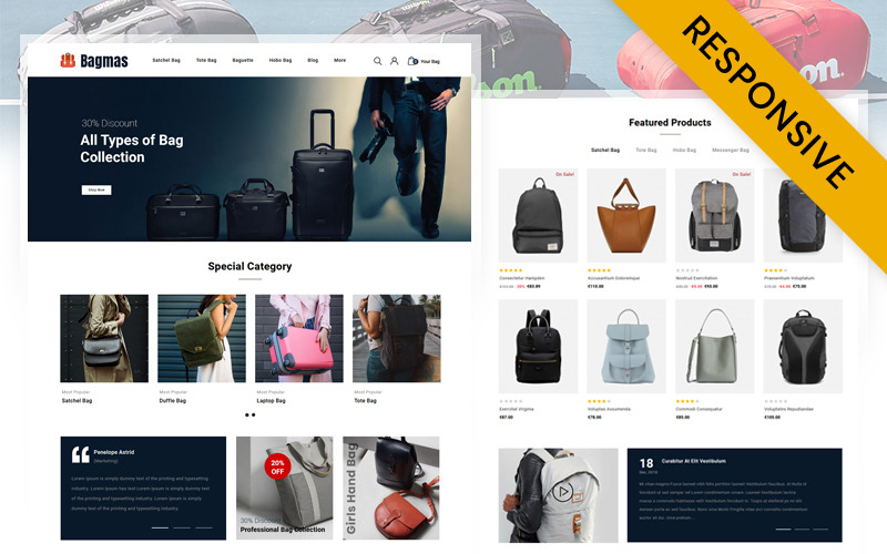 Bagmas Bag Store PrestaShop Theme