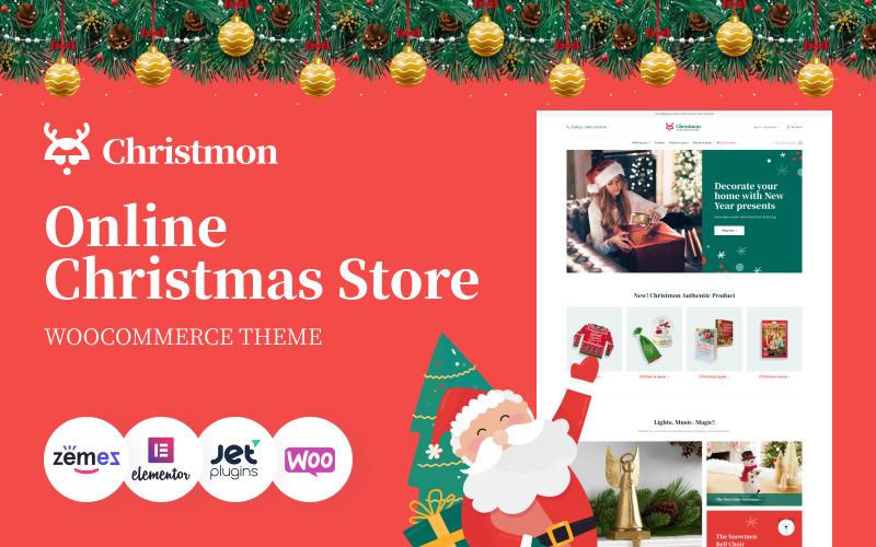 Christmon - тема WooCommerce для веб-сайта электронной коммерции рождественских поделок