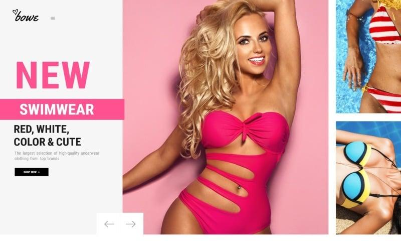 Bowitus - Tema Magento do site da loja de lingerie