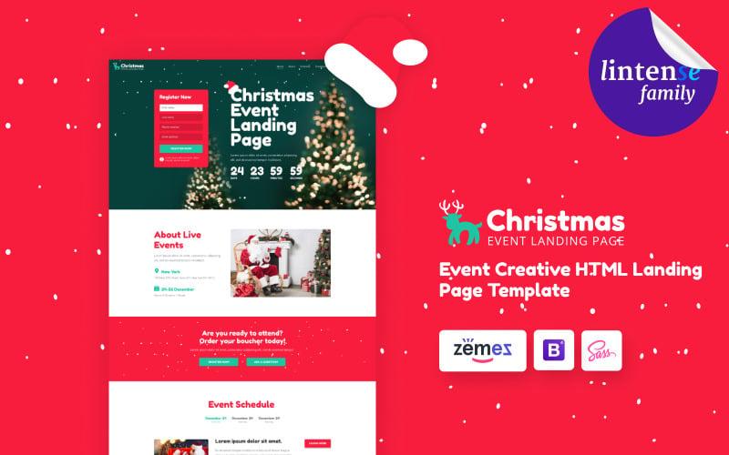 Lintense圣诞节-寒假HTML着陆页模板