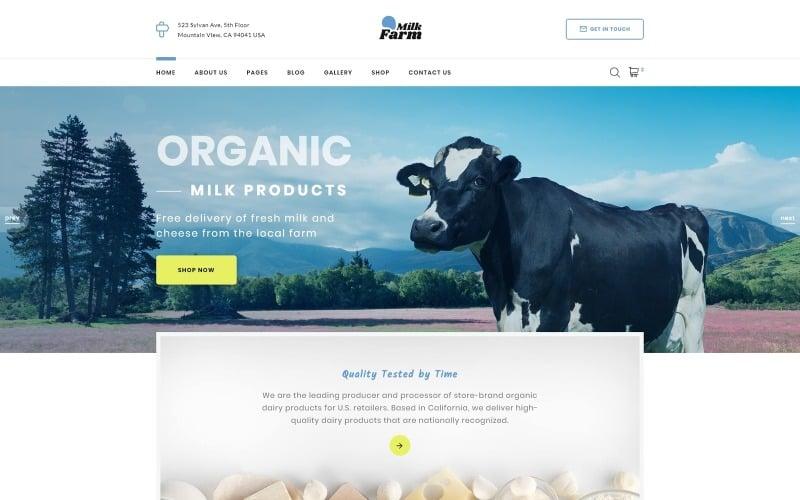 Milk Farm - Dairy Farm Website Template