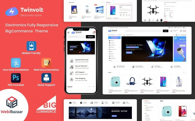 Twinvolt - Multipurpose BigCommerce Theme powered by Stencil