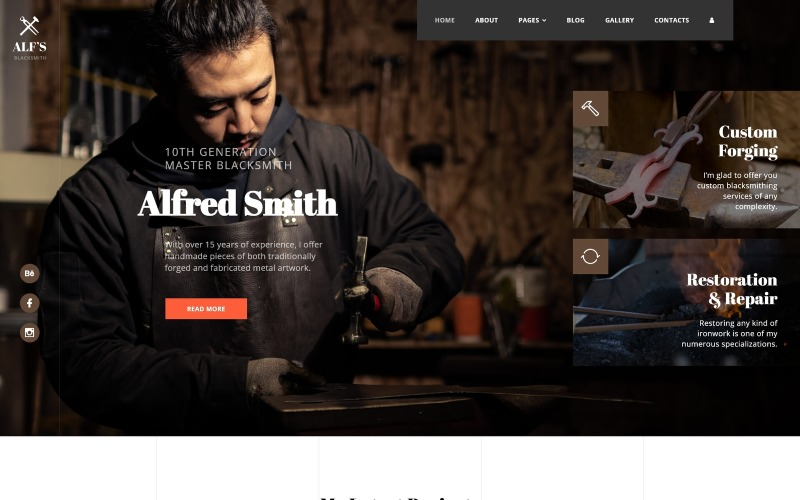 ALFs - Personal Page Multipage Creative Joomla Template