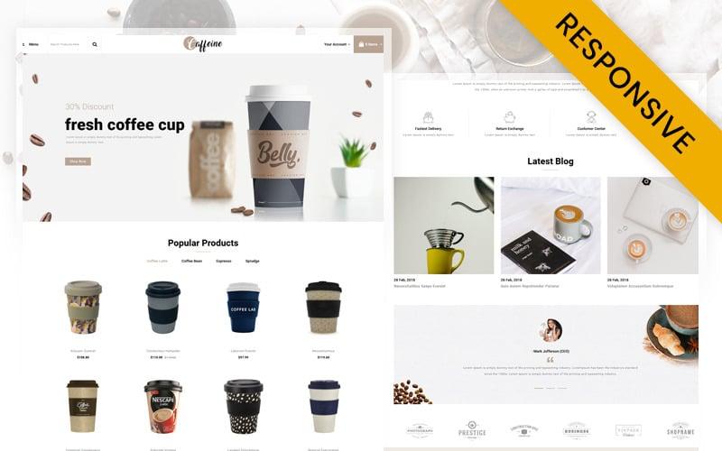 Caffeine - Coffee Store OpenCart Template