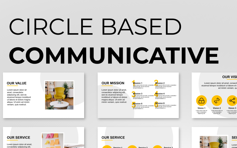 Circle Based Minimalist Presentation PowerPoint template