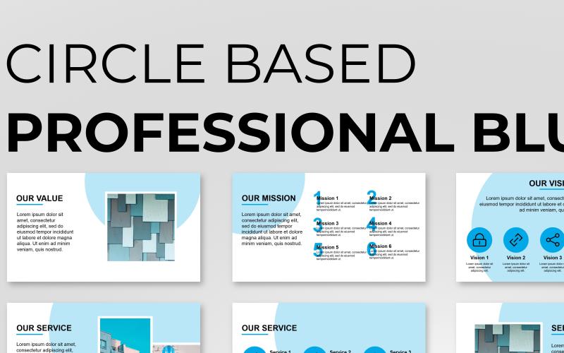 Консультація з професійним синім шаблоном PowerPoint