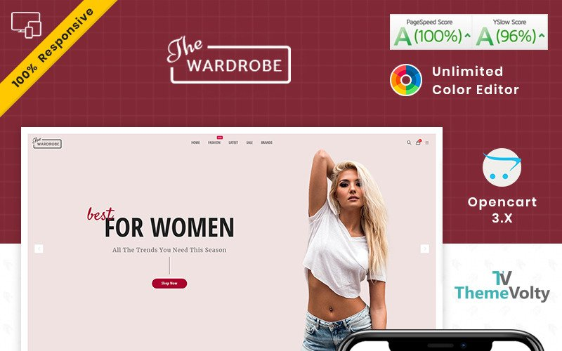Wardrobe - Fashion and Kids Shop OpenCart Template