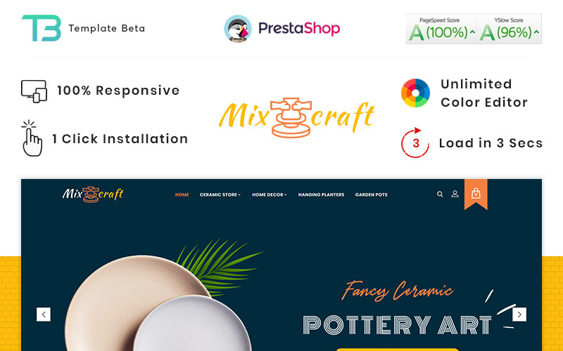 Mix Craft - керамічна адаптивна тема PrestaShop