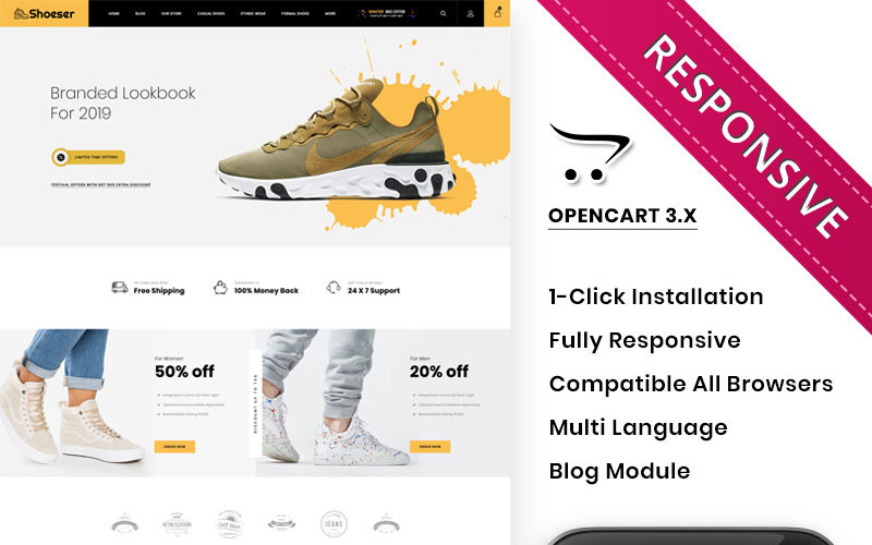 Shoeser - The Ultimate Shoe Store OpenCart Template