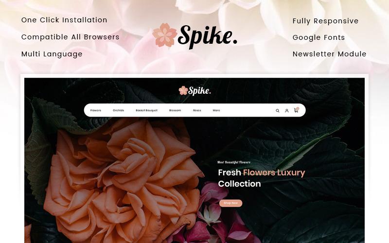 Spike - OpenCart шаблон магазина свежих цветов