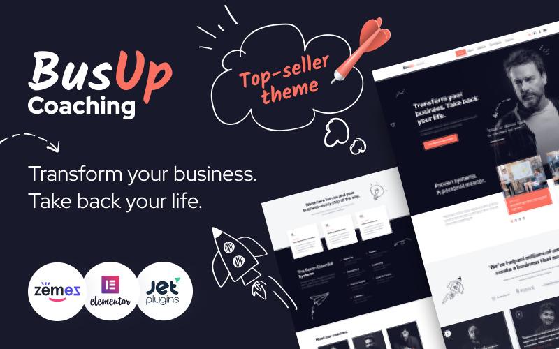 BusUp - интересная и вдохновляющая тема WordPress для веб-сайта публичных спикеров
