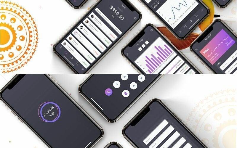 Financial App UI Mobile Kit - H