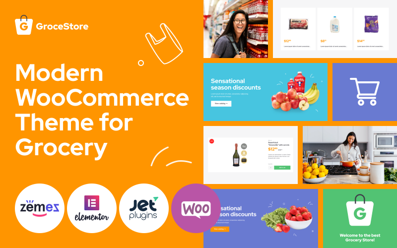 GroceStore - Bright And Attractive Grocery eCommerce Website WooCommerce Theme