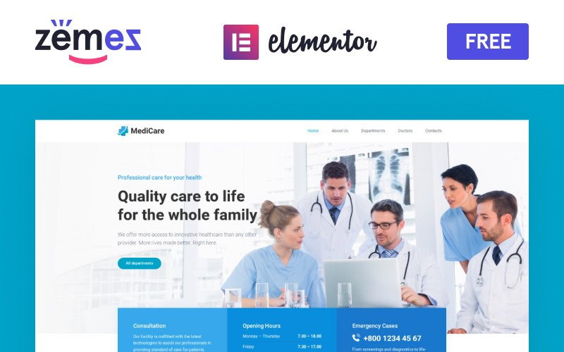 MediCare - Tema de WordPress GRATUITO para médicos