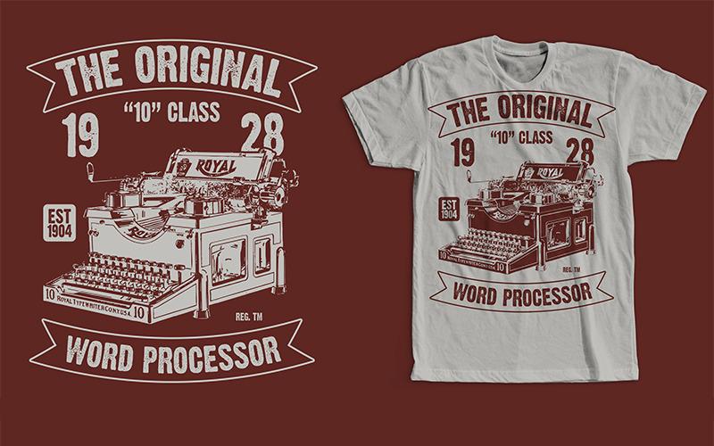 Оригинальный дизайн текстового процессора - дизайн футболки