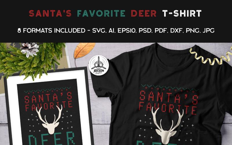 Santas Favorite Deer T Shirt 90470