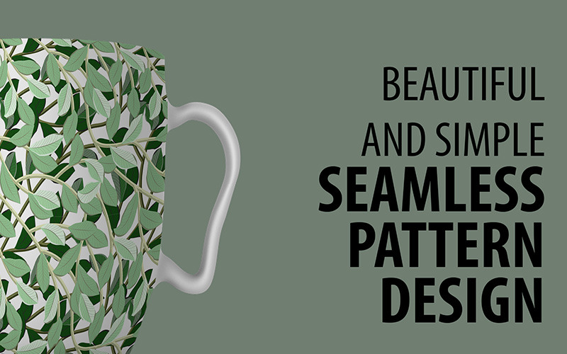 Awesome Floral Repeat Design with Leaves and Branches Pattern