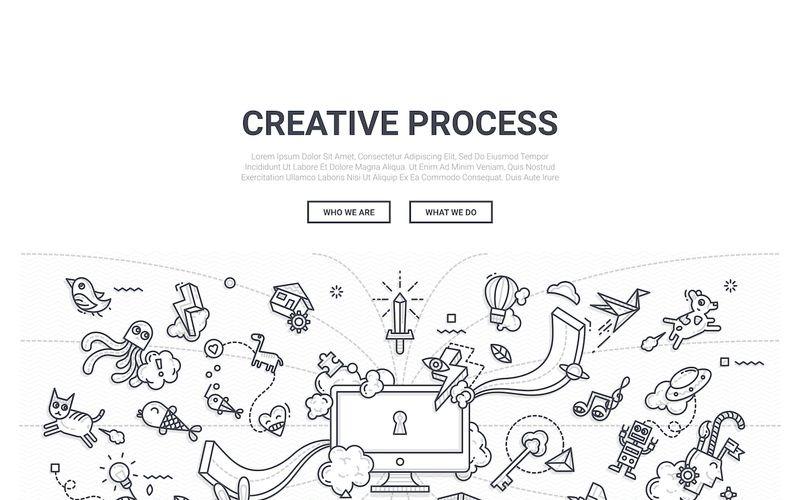 Doodle - bakgrund för kreativ process