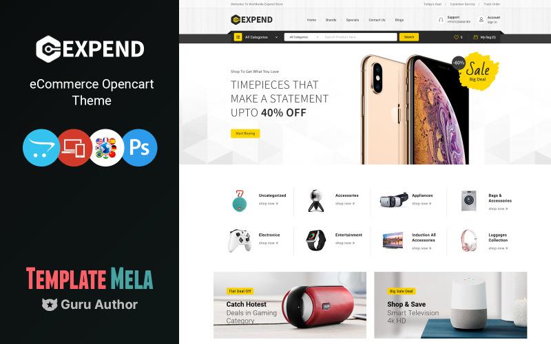 Expend - OpenCart-mall för flera ändamål