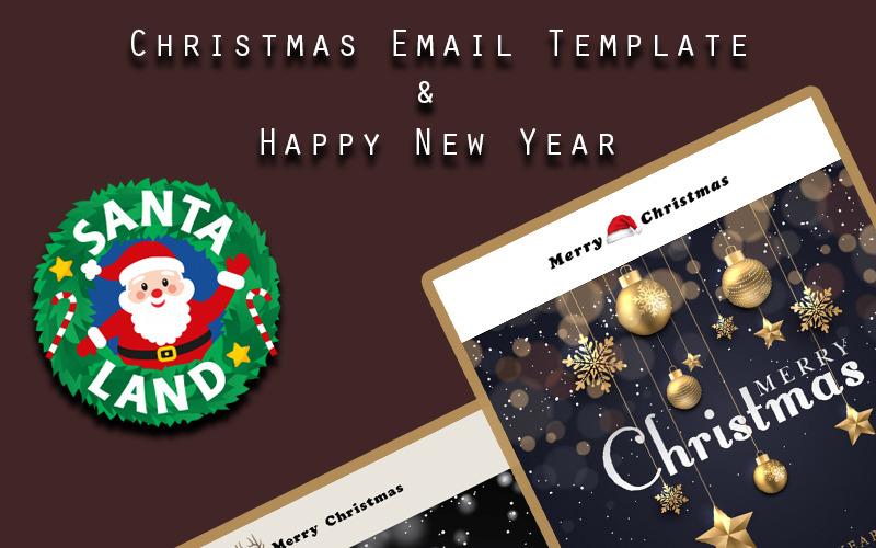 Шаблон информационного бюллетеня с Рождеством и Новым годом