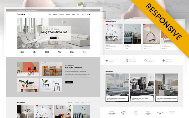 Stable - Modern Furniture Store OpenCart Template
