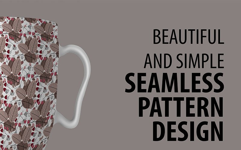 Abstract Floral Repeat Design Pattern