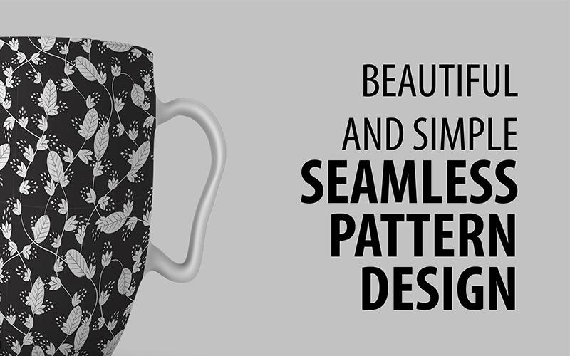Modello senza cuciture disegnato a mano floreale astratto di progettazione