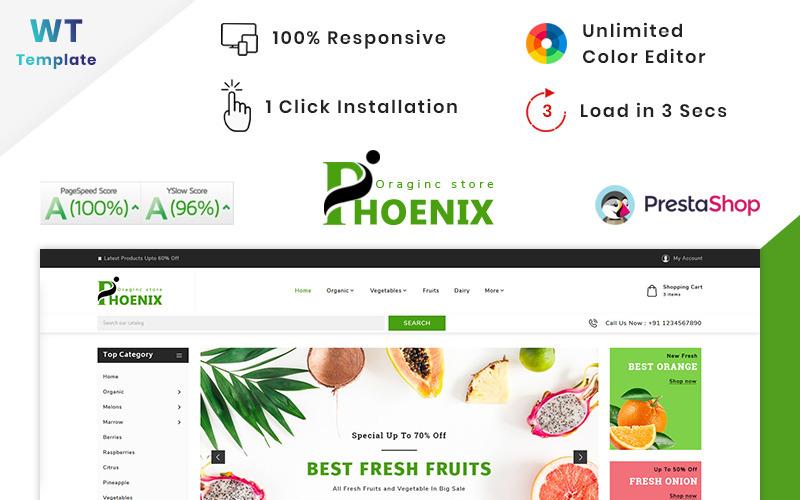Thème PrestaShop Phoenix Organic Big Mall