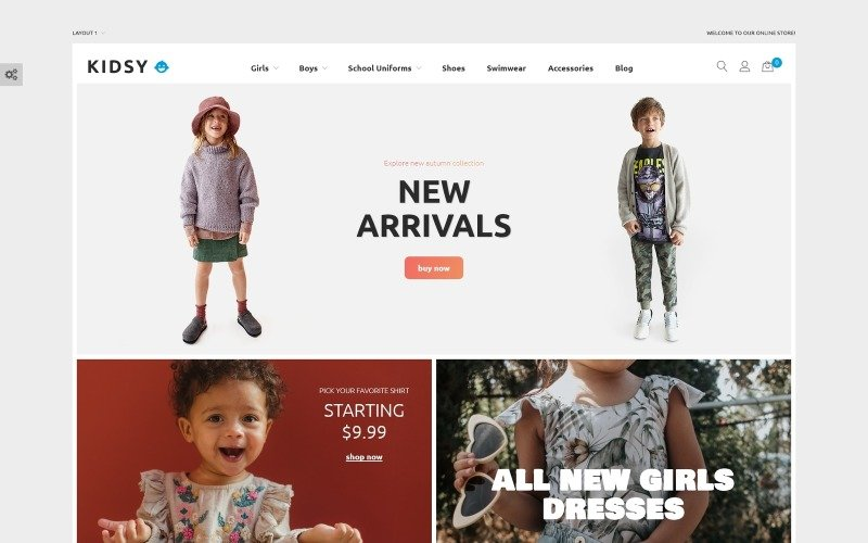 Kidsy - Children`s Clothing Ecommerce Magento Theme