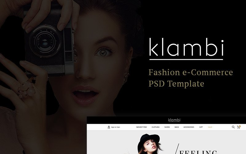 Klambi e-Commerce Fashion PSD Template