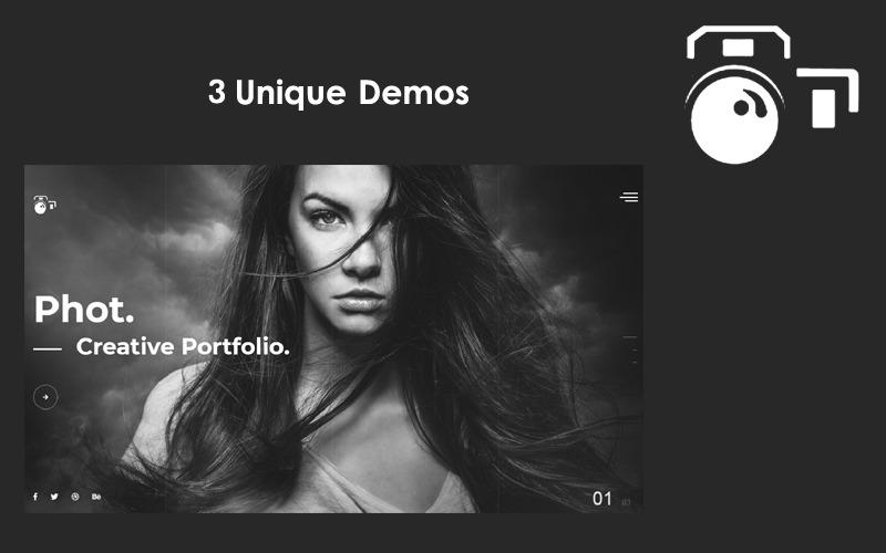 Phot - Modello di sito web per portfolio avanzato