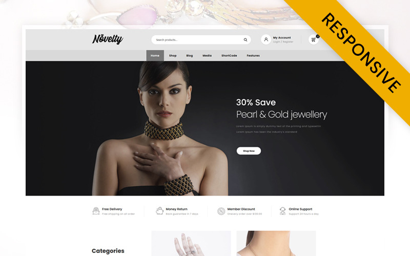 Novità - Tema WooCommerce per gioielleria